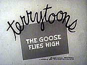 Goose Flies High Picture Of Cartoon