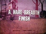 A Hare-Breadth Finish Cartoon Picture