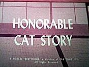 Honorable Cat Story Free Cartoon Picture