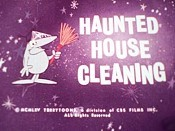 Haunted House Cleaning Cartoon Picture