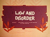 Law And Disorder Cartoon Picture