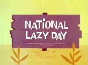 National Lazy Day Cartoon Picture