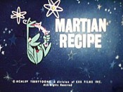 Martian Recipe Cartoon Pictures
