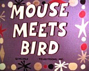Mouse Meets Bird Cartoon Picture