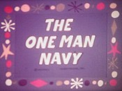 The One Man Navy Cartoon Picture