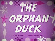 The Orphan Duck Free Cartoon Picture
