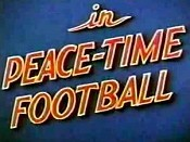 Peace-Time Football Pictures In Cartoon