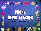 Phony News Flashes Picture Into Cartoon