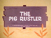The Pig Rustler Cartoon Picture
