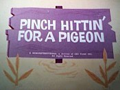 Pinch Hittin' For A Pigeon Cartoon Picture