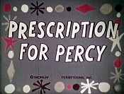 Prescription For Percy Cartoon Picture
