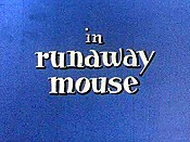Runaway Mouse Cartoon Picture