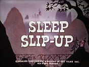 Sleep Slip-Up Picture Of The Cartoon
