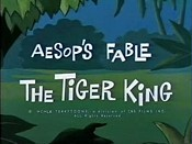 The Tiger King Cartoon Picture