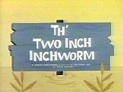 Th' Two Inch Inchworm Cartoon Picture