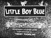 Little Boy Blue Cartoon Picture
