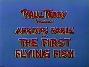 The First Flying Fish Cartoon Character Picture