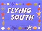 Flying South Free Cartoon Picture