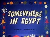 Somewhere In Egypt Free Cartoon Picture