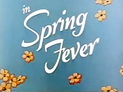 Spring Fever Free Cartoon Picture