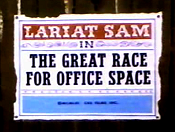 The Great Race For Office Space Cartoon Character Picture