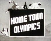 Home Town Olympics Cartoon Picture