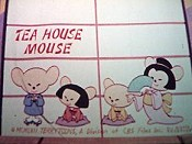 Tea House Mouse Free Cartoon Picture