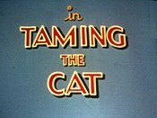Taming The Cat Free Cartoon Picture
