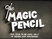 The Magic Pencil Free Cartoon Picture