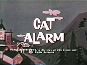 Cat Alarm Cartoon Picture