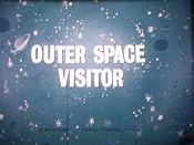 Outer Space Visitor Free Cartoon Picture