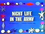 Night Life In The Army Free Cartoon Picture