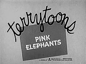 Pink Elephants Cartoon Picture
