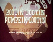 Rootin' Tootin' Pumpkin Lootin' Cartoon Character Picture