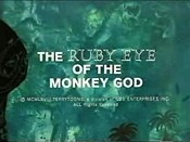 The Ruby Eye Of The Monkey God Cartoon Character Picture