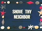 Shove Thy Neighbor Cartoon Character Picture