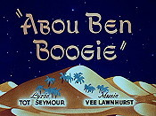 Abou Ben Boogie Free Cartoon Picture