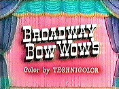 Broadway Bow Wow's Free Cartoon Picture