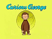 Curious George Flies A Kite Cartoon Picture