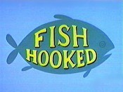 Fish Hooked Cartoon Picture