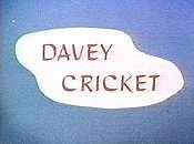 Davey Cricket Free Cartoon Picture