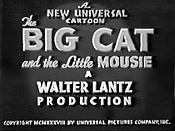 The Big Cat And The Little Mousie Cartoon Character Picture