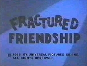 Fractured Friendship Free Cartoon Picture