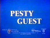 Pesty Guest Free Cartoon Picture