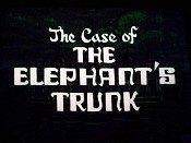 The Case Of The Elephant's Trunk Cartoon Picture