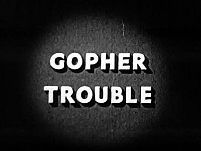 Gopher Trouble Cartoon Picture