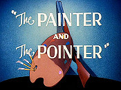 The Painter And The Pointer Free Cartoon Picture