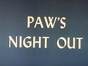 Paw's Night Out Picture Of Cartoon