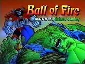 Ball Of Fire Cartoon Picture