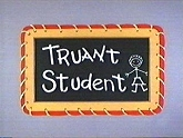 Truant Student Free Cartoon Picture